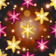 new year pattern with ball. christmas wallpaper - stock illustration