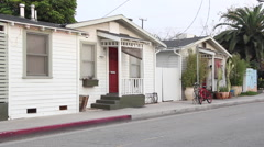 Charming Historic Cottage Homes in Venice, CA Stock Footage