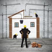 build house - stock photo