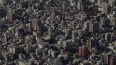 Aerial View of Tokyo from the Skytree Stock Footage