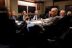 President Barack Obama drops by National Security Advisor Gen Free Stock Photos