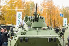 btr-82a armoured personnel carrier - stock photo