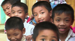 Vietnamese school in Tan Hoa village 6751 Stock Footage