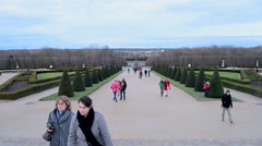Travelers in Palace of Versailles (Chateau de Versailles) in Paris, France. Stock Footage