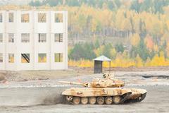 Modernized tank T-90S - stock photo