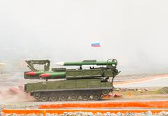 Buk-M1-2 surface-to-air missile systems - stock photo
