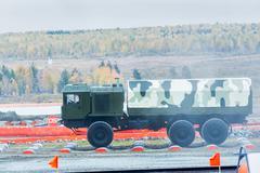 Onboard MZKT-6001 truck - stock photo