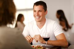 handsome young man with his girlfriend - stock photo