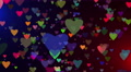 VJ Background flying colored hearts 4K Footage