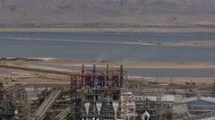 Dead sea factories tele 4K Stock Footage