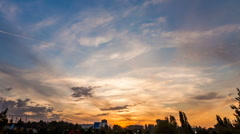 Holy grail sunset timelapse day to night skyline urban dusk Stock Footage