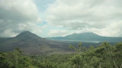 Volcano in Indonesia Stock Footage