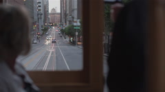 Cable car san francisco POV Stock Footage