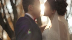 Happy groom and bride. Stock Footage