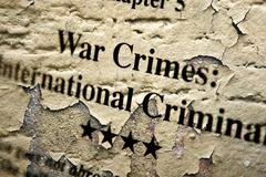 War internation crimes Stock Photos