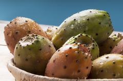 Stock Photo of sicily succulent prickly pear