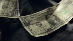 Dollar Bills on a Bed - stock footage