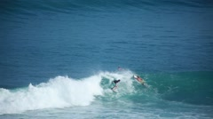 Surfing in Bali Stock Footage