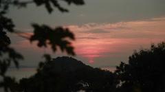 Sunset in Komodo island. Mountain view. Stock Footage
