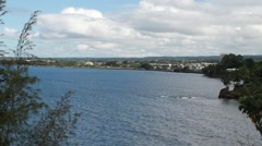 Wide shot of Hilo bay Stock Footage
