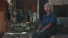 BAJAWA, FLORES,  INDONESIA – DECEMBER 25, 2014: The villagers of Bajawa Stock Footage