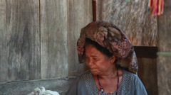 BAJAWA, FLORES,  INDONESIA – DECEMBER 25, 2014: The villagers of Bajawa Stock Footage