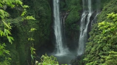 Waterfall  in jungle. Indonesia - stock footage