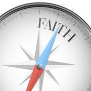 compass faith - stock illustration