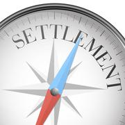 Compass settlement Stock Illustration