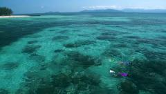 Green Island, the famous Great Barrier Reaf next to Cairns, Australia. Stock Footage