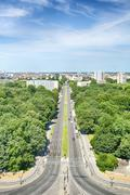 The city of berlin seen from the victory column monument Stock Photos