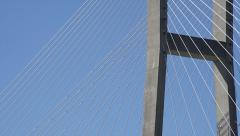 Eugene talmadge memorial bridge, savannah, ga, usa Stock Footage