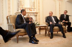 President Barack Obama meets with Prime Minister Vladimir Putin at his dacha  Free Stock Photos