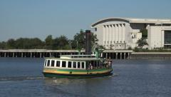 Susie king taylor ferry boat, river taxi, savannah, ga, usa Stock Footage