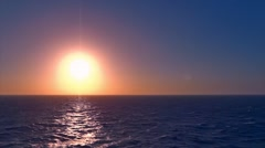 Slow Motion Sun Ocean Sunset Awesome Animation 200 FPS Stock Footage