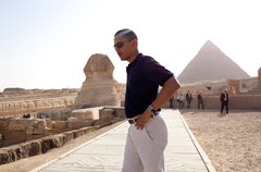 President Barack Obama tours the Egypt's Great Sphinx of Giza (left) and the  Free Stock Photos