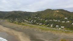 Piha Beach, New Zealand coastline Stock Footage