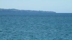 Ocean waves outside of Hilo Stock Footage