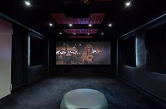 private cinema at home - stock photo