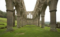 Rievaulx abbey archway ruins Stock Photos