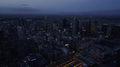 Elevated Melbourne City View Stock Footage
