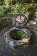 the chalice well, also known as the red spring, is a well situated at the foo - stock photo