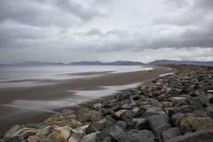 Beach on the Atlantic Ocean. Stock Photos