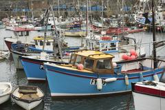 mevagissey harbour - stock photo