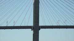 Close up of traffic, eugene talmadge memorial bridge, savannah, ga, usa Stock Footage