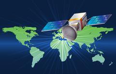 A satellite Stock Illustration