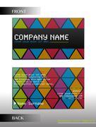 A rectangular business card Stock Illustration