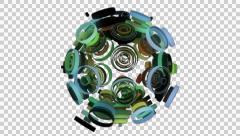 Neon Pattern 003 C Float Random GTC 4K with alpha Stock Footage