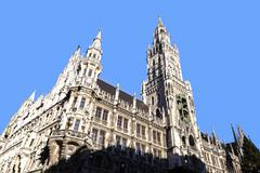 Glockenspiel on the munich city hall Stock Photos