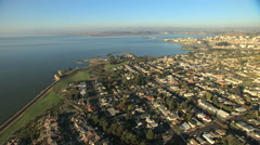 Aerial Lone Tree Point residential San Francisco Bay USA Stock Footage